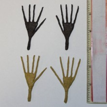 2.5 inch brown and tan doll hand armatures