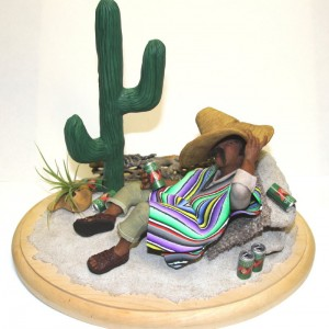 mexican dude with serape-sculpture