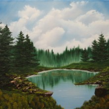 Lake Overlook Oil Painting