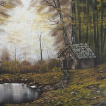 oil painting autumn in the woods