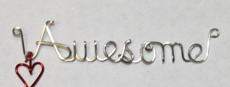 Sterling Silver Wired Awesome
