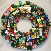 christmas wreath joy