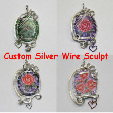 custom silver wire sculpt