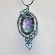 Purple Rose Pendant