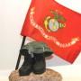 Military flag with marine flag