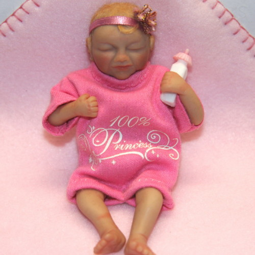 polymer clay baby girl lily