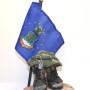 Air Force flag military sculpture