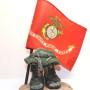 marine flag military sculpture