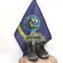 navy flag military sculpture