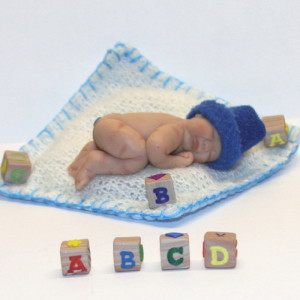 Baby Lee with building blocks