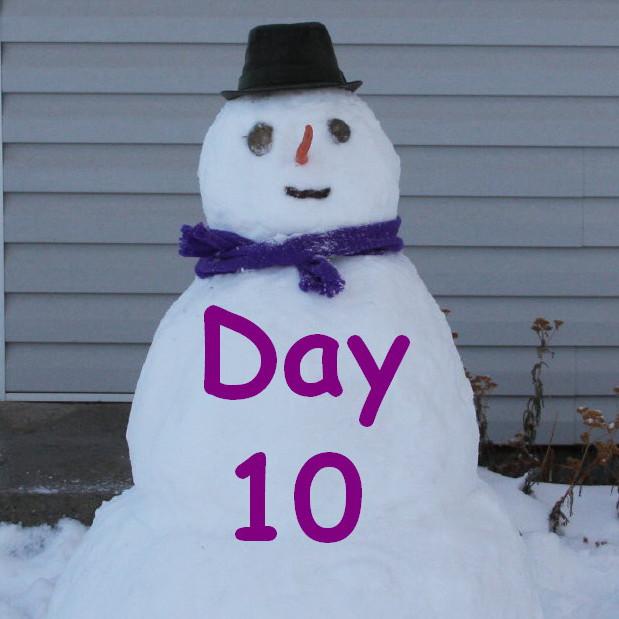 day 10 snowman