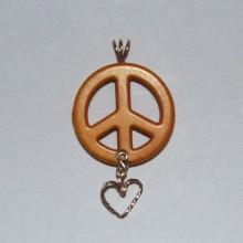 gold peace symbol howlite