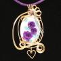 purple roses pendant