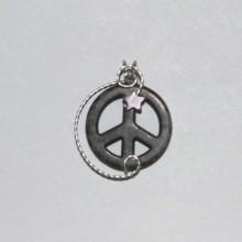 grey howlite peace symbol