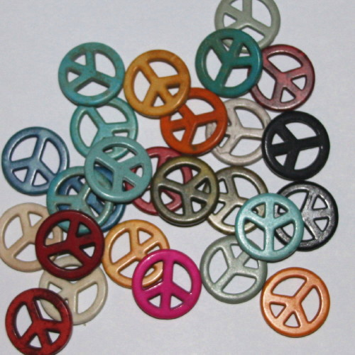 howlite peace symbols