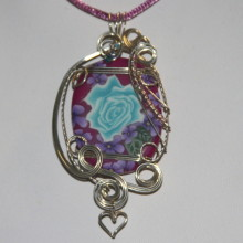purple and turquoise pendant