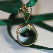 green marble pendant
