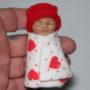 valentine polymer clay baby in hand