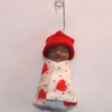 Valentine Baby Ornament