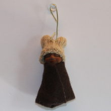Brown Baby Boy Doll Hanging ornament