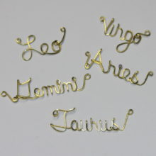 Zodiac Astrological Signs Written in Wire