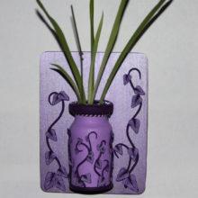Purple Vines on Lavender Plant Starter Plaque