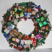 Santa Miniature Christmas Wreath